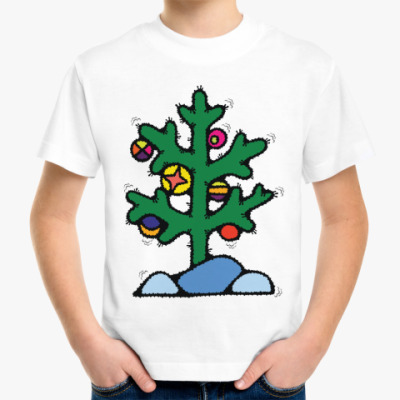 Детская футболка Нестандартная елочка