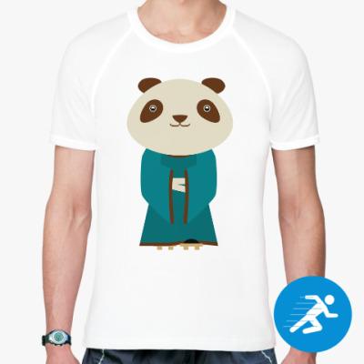 Спортивная футболка Панда в кимоно