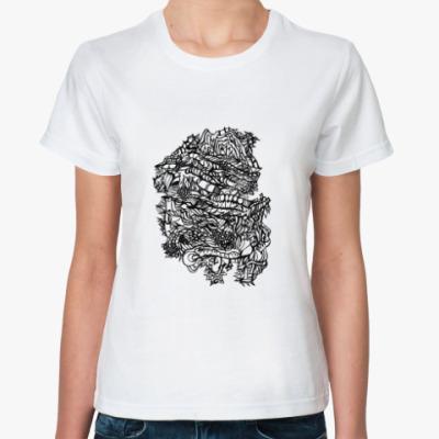 Классическая футболка абстракция