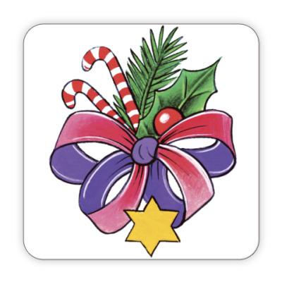 Костер (подставка под кружку) Новогодний букет