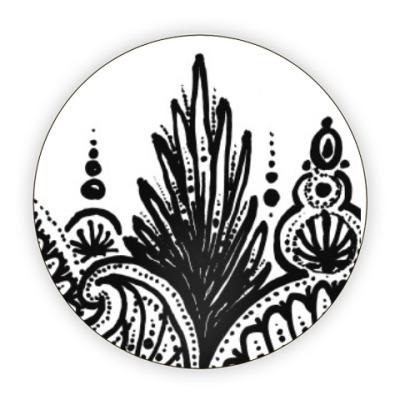 Костер (подставка под кружку) Цветы жарких стран