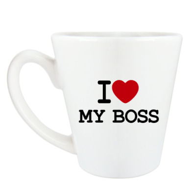 Чашка Латте I Love My Boss