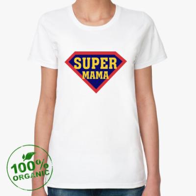 Женская футболка из органик-хлопка Супер мама
