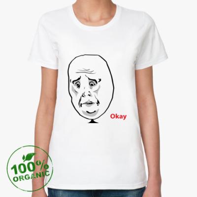Женская футболка из органик-хлопка Okay Face