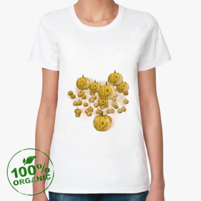 Женская футболка из органик-хлопка Весёлый хэллоуин