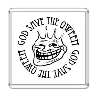 Магнит Trollface - Qween