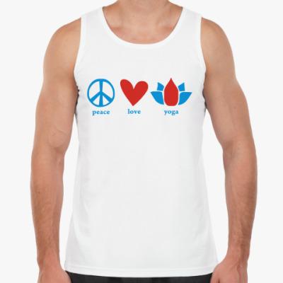 Майка  'Peace, love, yoga'