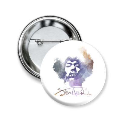 Значок 50мм  Jimi Hendrix - Джими Хендрикс