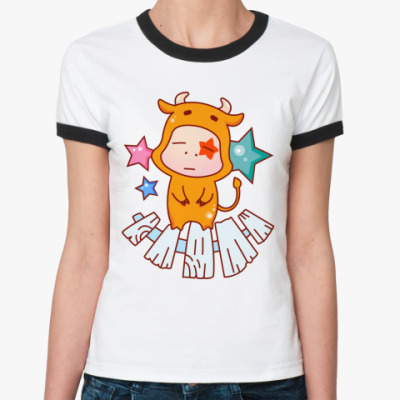 Женская футболка Ringer-T Знак зодиака Телец