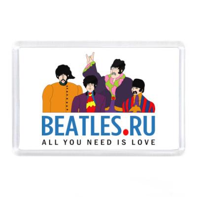 Магнит  Beatles.ru (прямоугол)