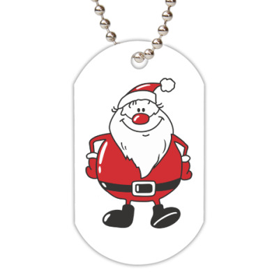Жетон dog-tag Санта Клаус