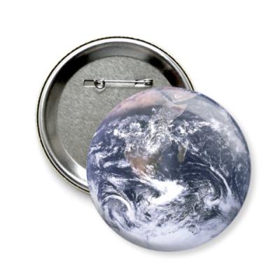 Значок 58мм Планета Земля