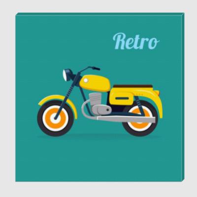 Холст Ретро мотоцикл