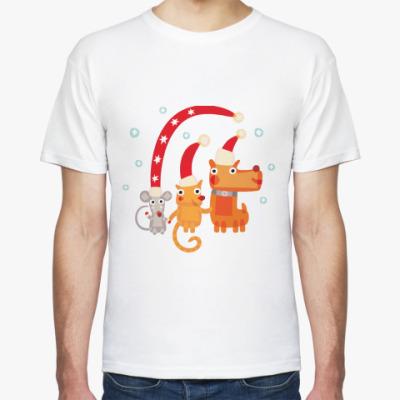 Футболка Крыса, кот и собака