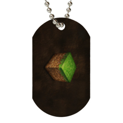 Жетон dog-tag Minecraft Grass Block