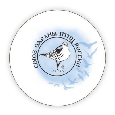 Костер (подставка под кружку) Союз охраны птиц России (логотип)