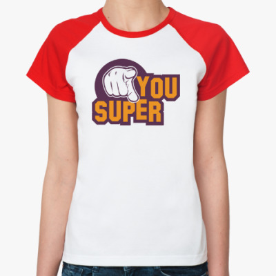 Женская футболка реглан U Super
