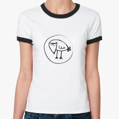 Женская футболка Ringer-T  'Ворона'