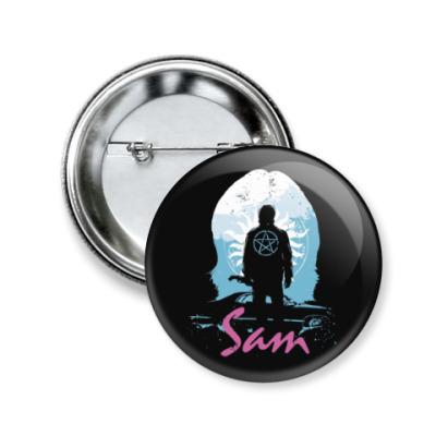 Значок 50мм Sam - Supernatural