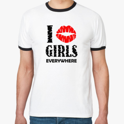 Футболка Ringer-T I kiss girls