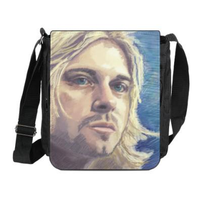 Сумка на плечо (мини-планшет) Kurt Cobain