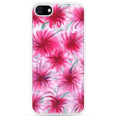 Чехол для iPhone Цветочный принт 'Астры'