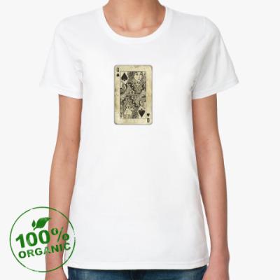 Женская футболка из органик-хлопка Женская футболка Continental Clothing из органик-хлопка