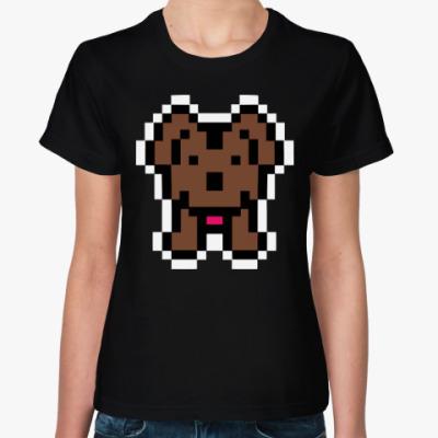 Женская футболка Собака
