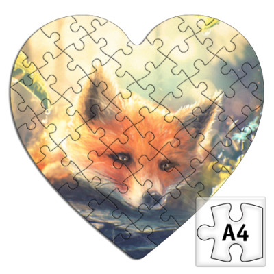 Пазл Пазл в форме сердца Fox