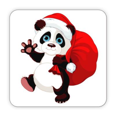 Костер (подставка под кружку) Панда с подарками