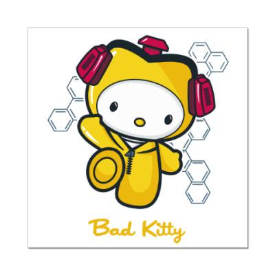 Наклейка (стикер) Bad Kitty