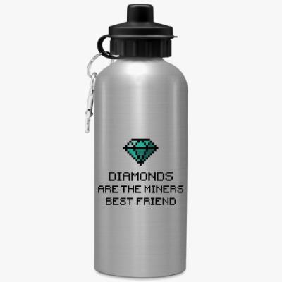 Спортивная бутылка/фляжка Minecraft - diamonds
