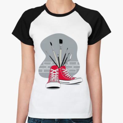 Женская футболка реглан Street Art