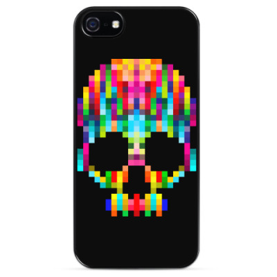 Чехол для iPhone Pixel Skull