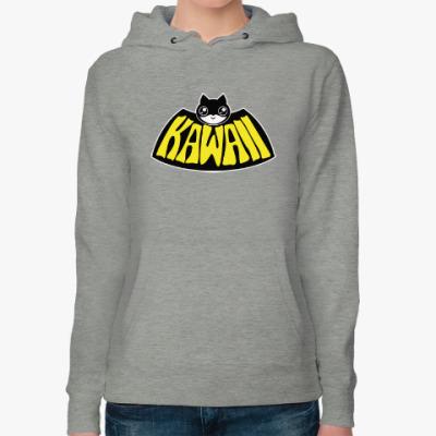 Женская толстовка худи Kawaii Batman