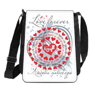 Сумка-планшет Любовь навсегда