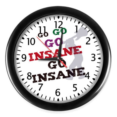 Настенные часы GO INSANE