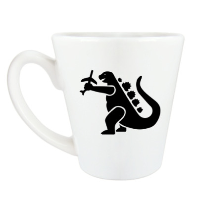 Чашка Латте Дракон Годзи