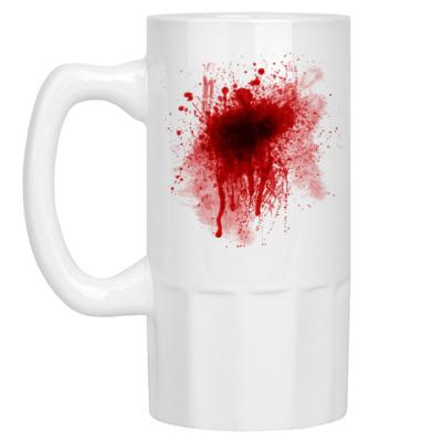 Пивная кружка Брызги крови