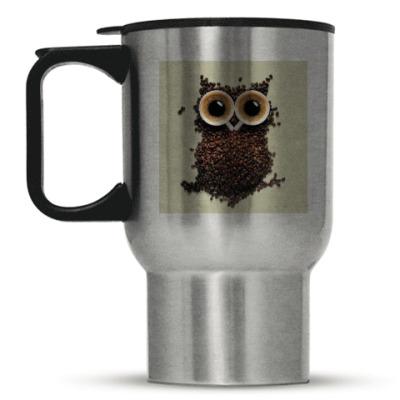 Кружка-термос Кофейная сова