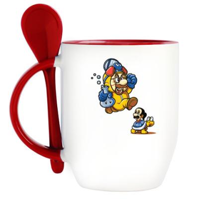 Кружка с ложкой Mario Heisenberg
