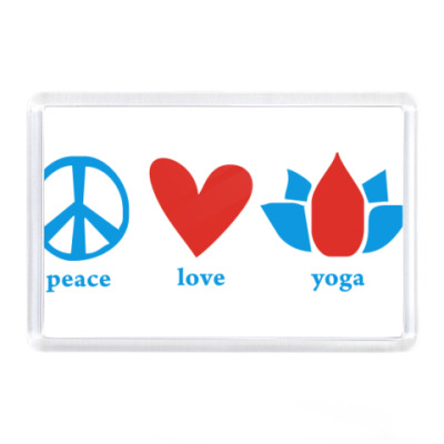 "Магнит  ""Peace, Love, Yoga"""