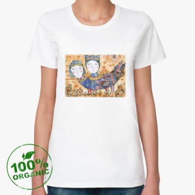 Женская футболка из органик-хлопка Птица Мифическая