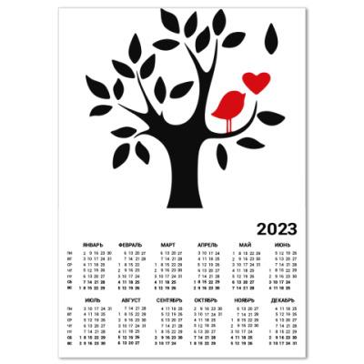 Календарь Любовь птички