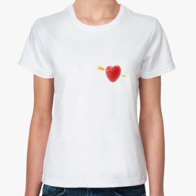 Классическая футболка Сердце амура