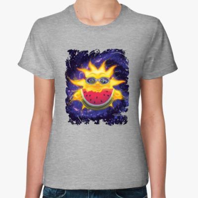 Женская футболка Солнечный арбуз