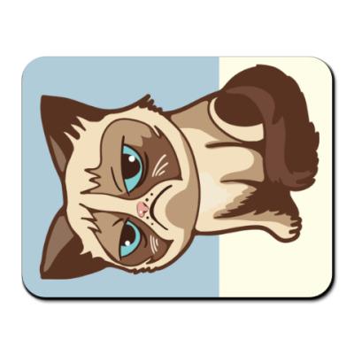 Коврик для мыши Угрюмый кот Тард - Grumpy Cat