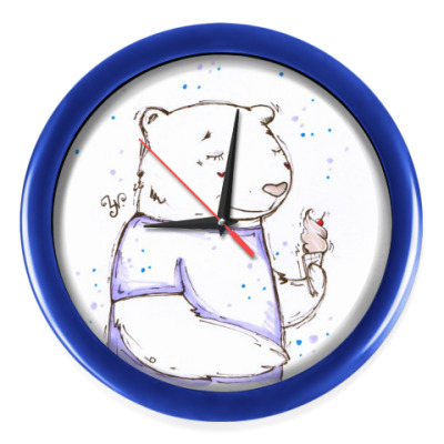 Настенные часы Медведь с мороженым