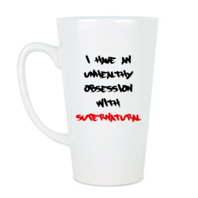Чашка Латте Одержима Сверхъестественным