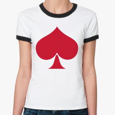 Женская футболка Ringer-T Вызывающая масть